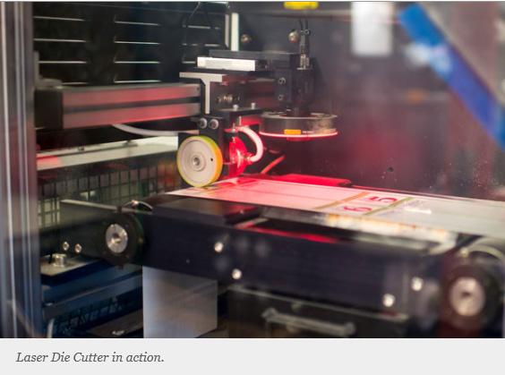 Laser Die Cutter for custom shape labels